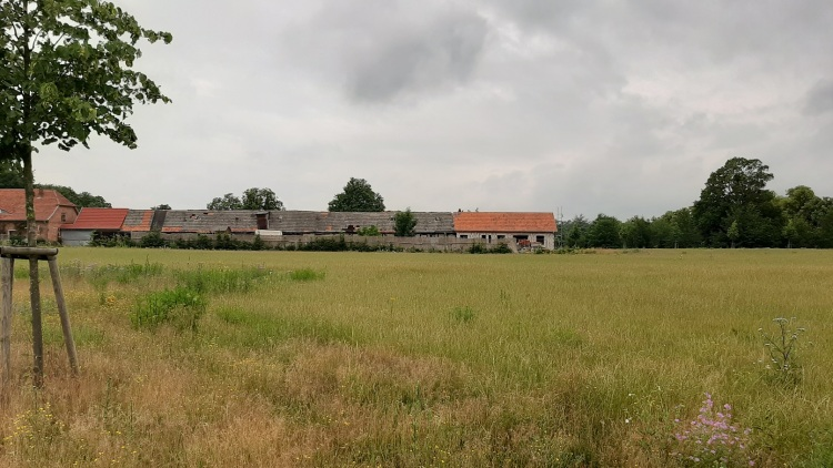 Sanierungsbedürftige Nebengebäude von Schloss Vietgest